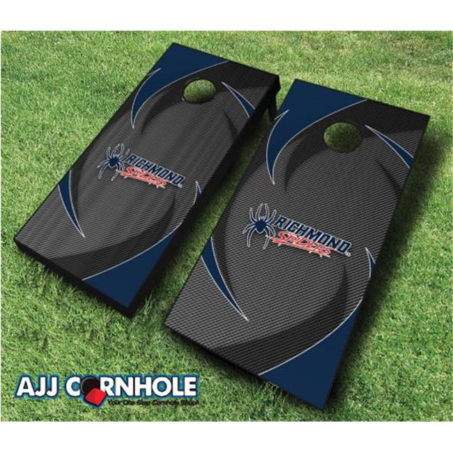 AJJCornhole 110-RichmondSwoosh Richmond Spiders Swoosh Theme Cornhole Set with Bags - 8 x 24 x 48 in. - image 1 de 1