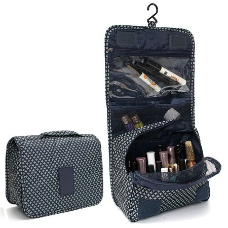 Portable Hanging Toiletry Bag  Portable Travel Organizer Carry Tote Cosmetic  Bag for Women Makeup or Men Shaving Kit with Hanging Hook for vacation ... f9712fe769335