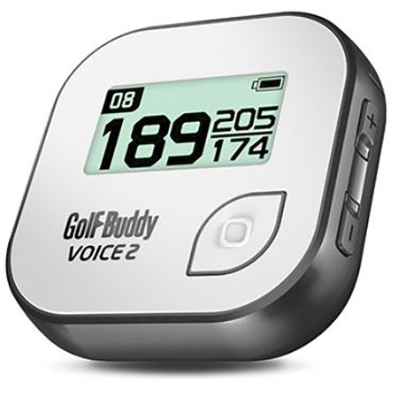 Golf Buddy Voice 2 Talking GPS Range Finder Rechargeable Watch Clip-On, Grey