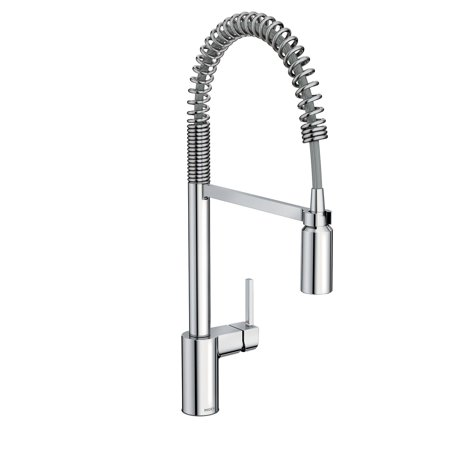 Moen 5923 Align 1.5 GPM Single Hole Pull Down Kitchen Faucet with Spot Resist Finish and Duralast - Chrome