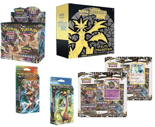 Pokemon TCG: Forbidden Light Sun & Moon Booster Box, Elite Trainer Box, Both Theme Decks and Both 3 Pack... by Pokemon