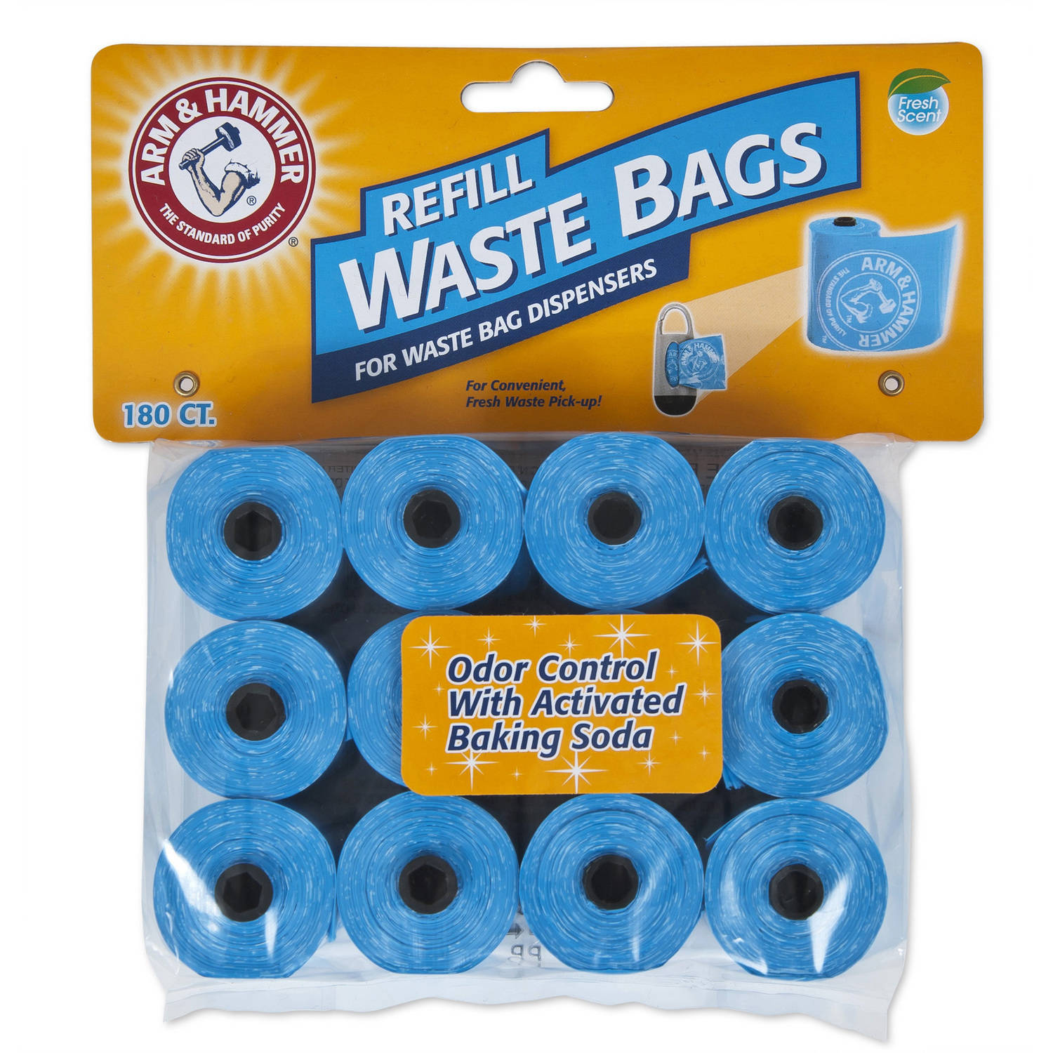 ARM & HAMMER Disposable Waste Bag Refills, Pack of 180