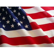 G128 - U.S. American US Flag 4x6 Ft Embroidered Stars Sewn Stripes Brass Grommets 210D Quality Polyester