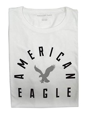 3d81a326 Product Image New American Eagle Mens Short Sleeve Scoop Hem Round Eagle  Graphic T-Shirt White (
