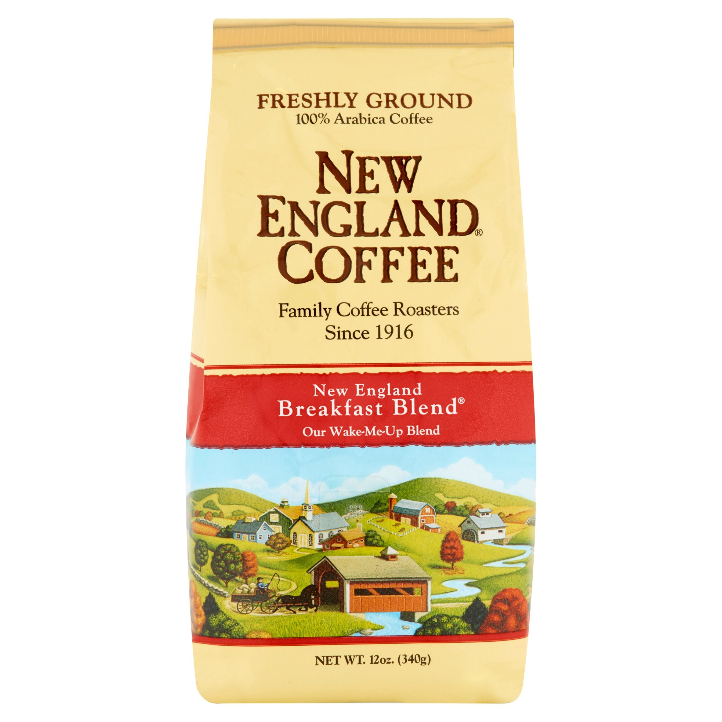 New England Coffee Ground Coffee, Breakfast Blend, 12 Oz