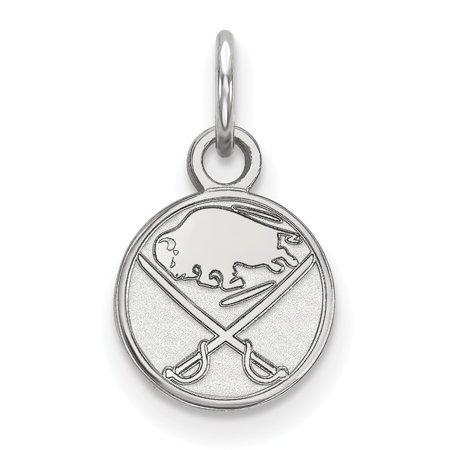 Solid 14k White Gold NHL Buffalo Sabres Extra Small Pendant