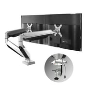 """Loctek D7D Heavy Duty Swivel Dual LCD Arm Desk Stand Monitor Mount for 10""""-27"""" Computer Screen Height Adjustable"""