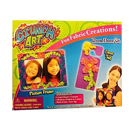Crunch Art Picture Frame and Door Tag Set, Crunch Art allows kids to make fun fabric creations By Little Kids Ship from US