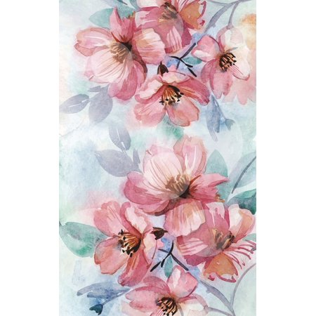 Internet Password Organizer : Never Forget a Password Again! 5 X 8 Pink Flower Watercolor Design, Small Password Organizer with Tabbed Pages, Pocket-Size Over 200 Record User and Password. Keep Favorite Website, Username, Email Used, and Passwords in One Easy, Convenient