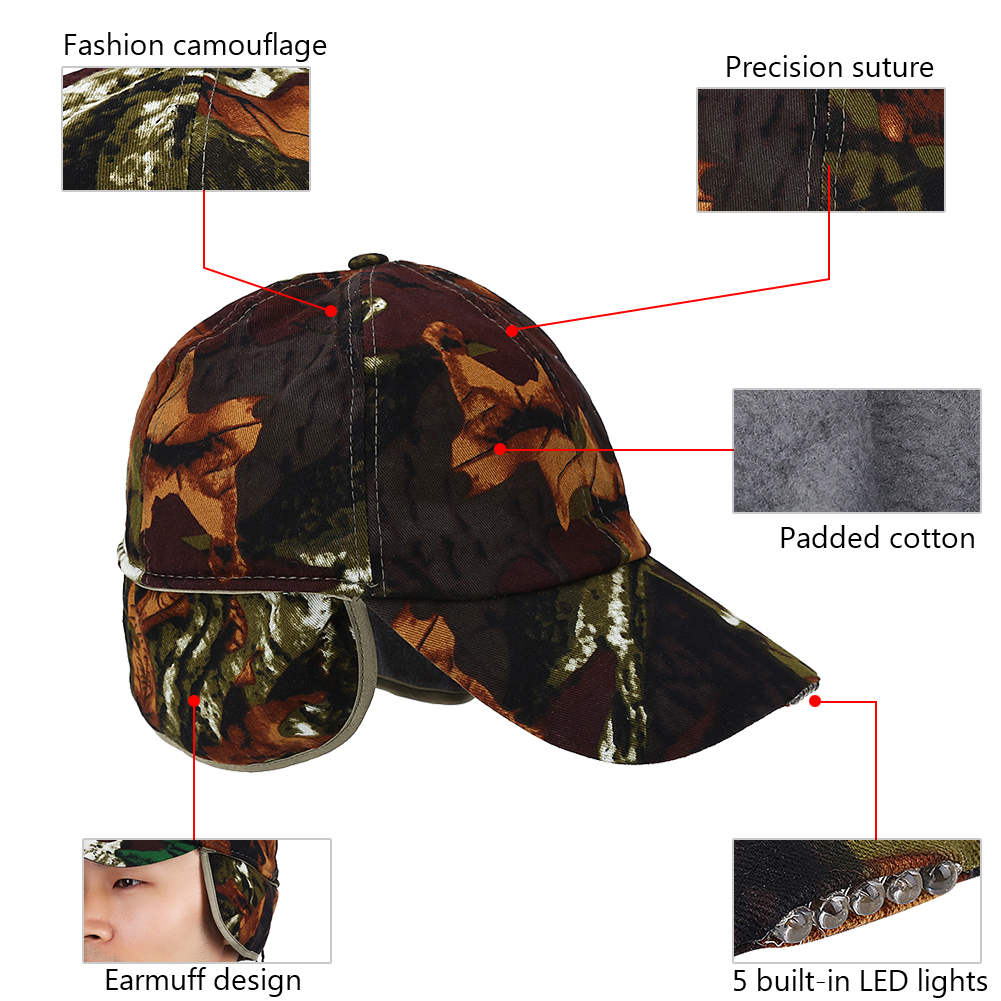 Lightweight LED Cotton Adjustable Baseball Cap Headlight Hat Night Fishing  Running 7452b089f17