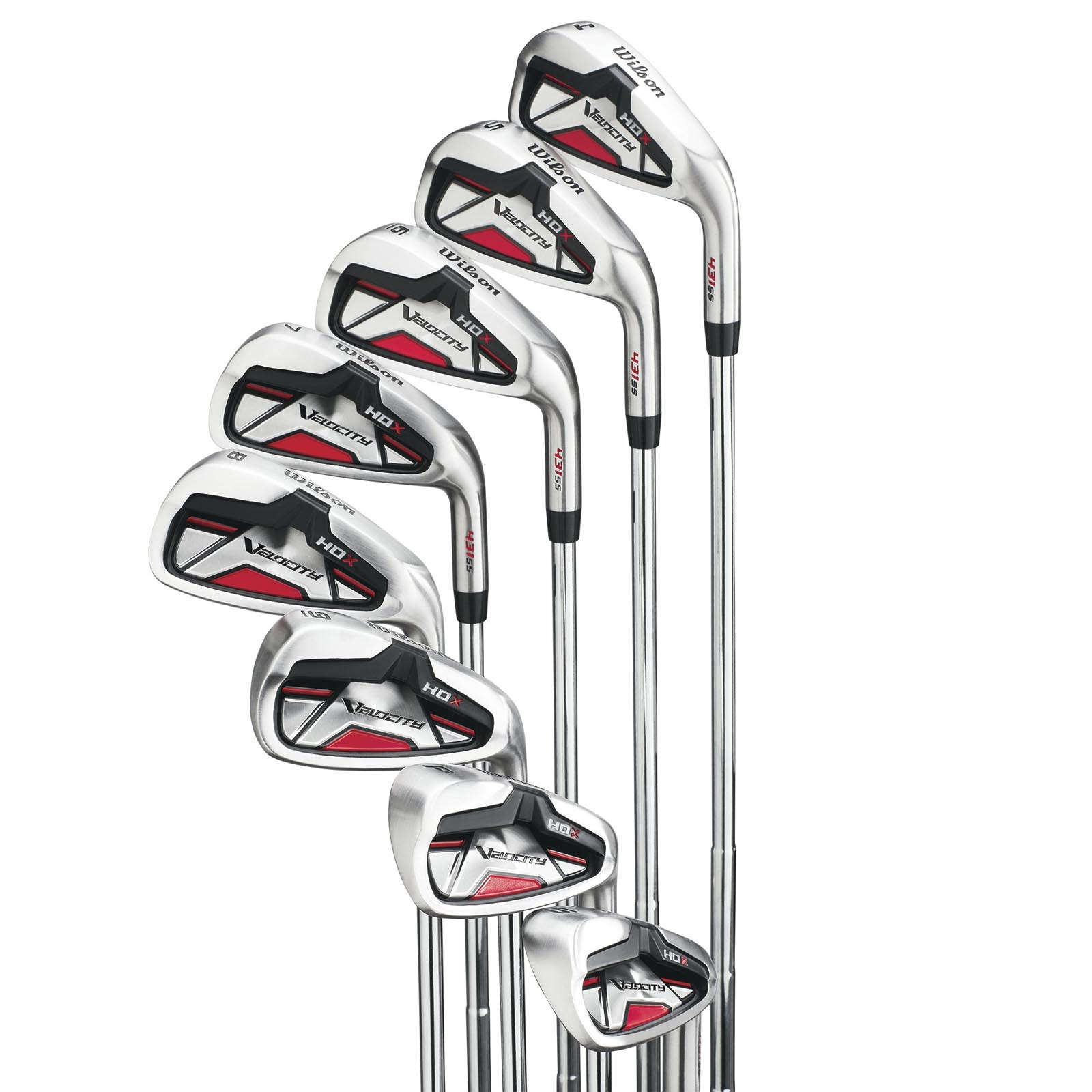 Wilson Velocity HDX Men's Right Hand Stiff Flex Steel Iron 4-PW+SW Golf Club Set by Wilson