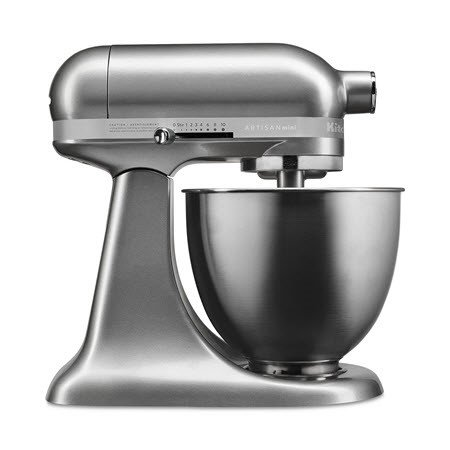 KitchenAid Artisan Mini 3.5 Quart Tilt-Head Stand Mixer, Contour Silver