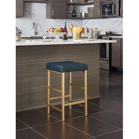 Pleasant 26 Gold Backless Stool Inzonedesignstudio Interior Chair Design Inzonedesignstudiocom