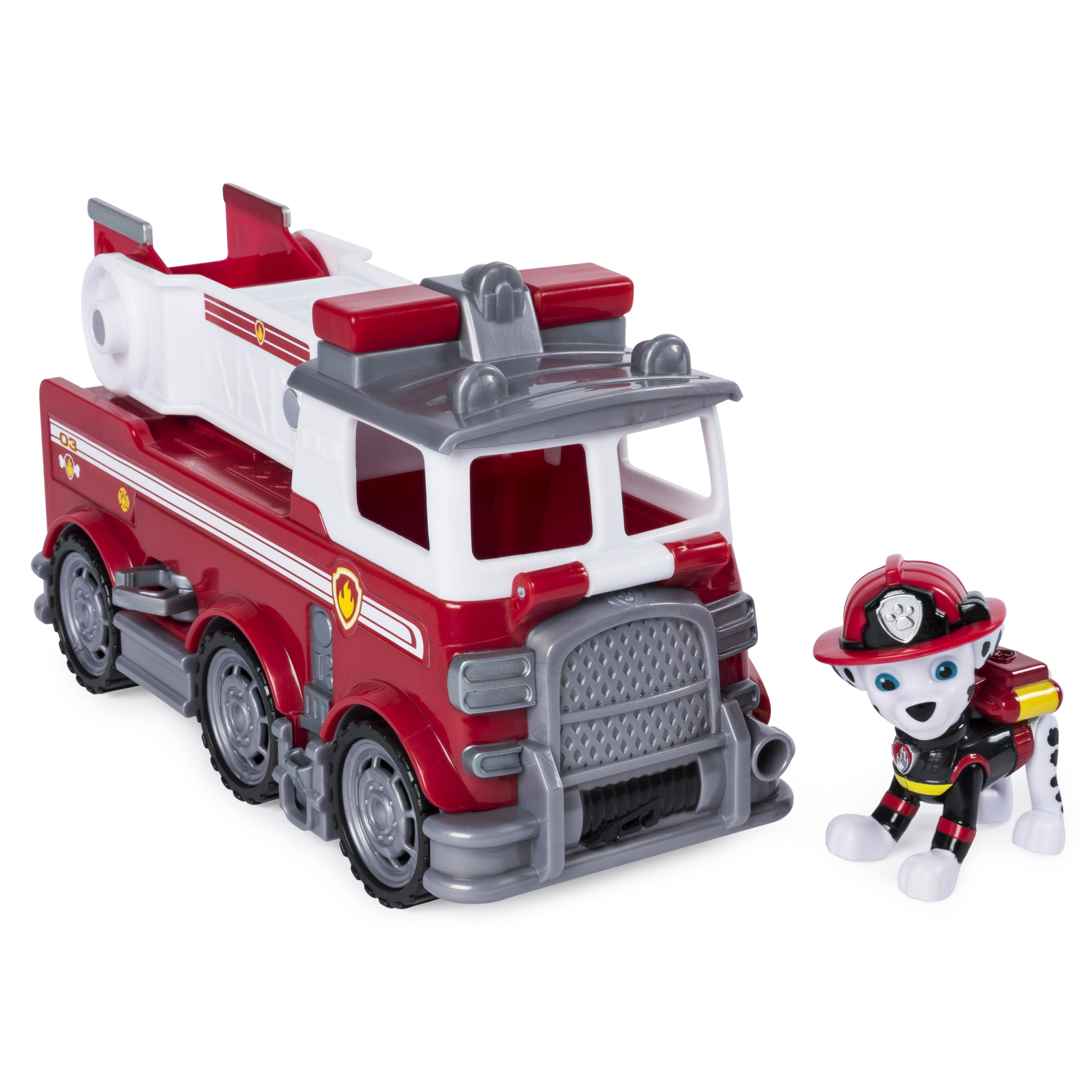 PAW Patrol Ultimate Rescue, Marshall?s Ultimate Rescue Fire Truck with Moving Ladder and Flip-open Front Cab, for Ages 3 and Up