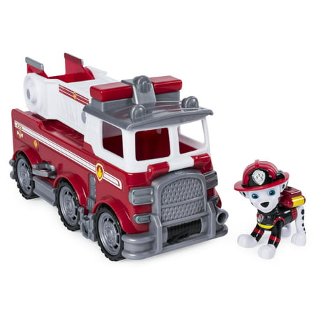 PAW Patrol Ultimate Rescue - Marshall's Ultimate Rescue Fire Truck with Moving Ladder and Flip-open Front Cab, for Ages 3 and Up - Fire Truck Plates