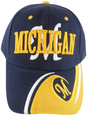 bd16f4a4711 Product Image Michigan Men s M Wave Pattern Adjustable Baseball Cap (Navy  Gold). BVE Sports Novelties. Product TitleMichigan ...