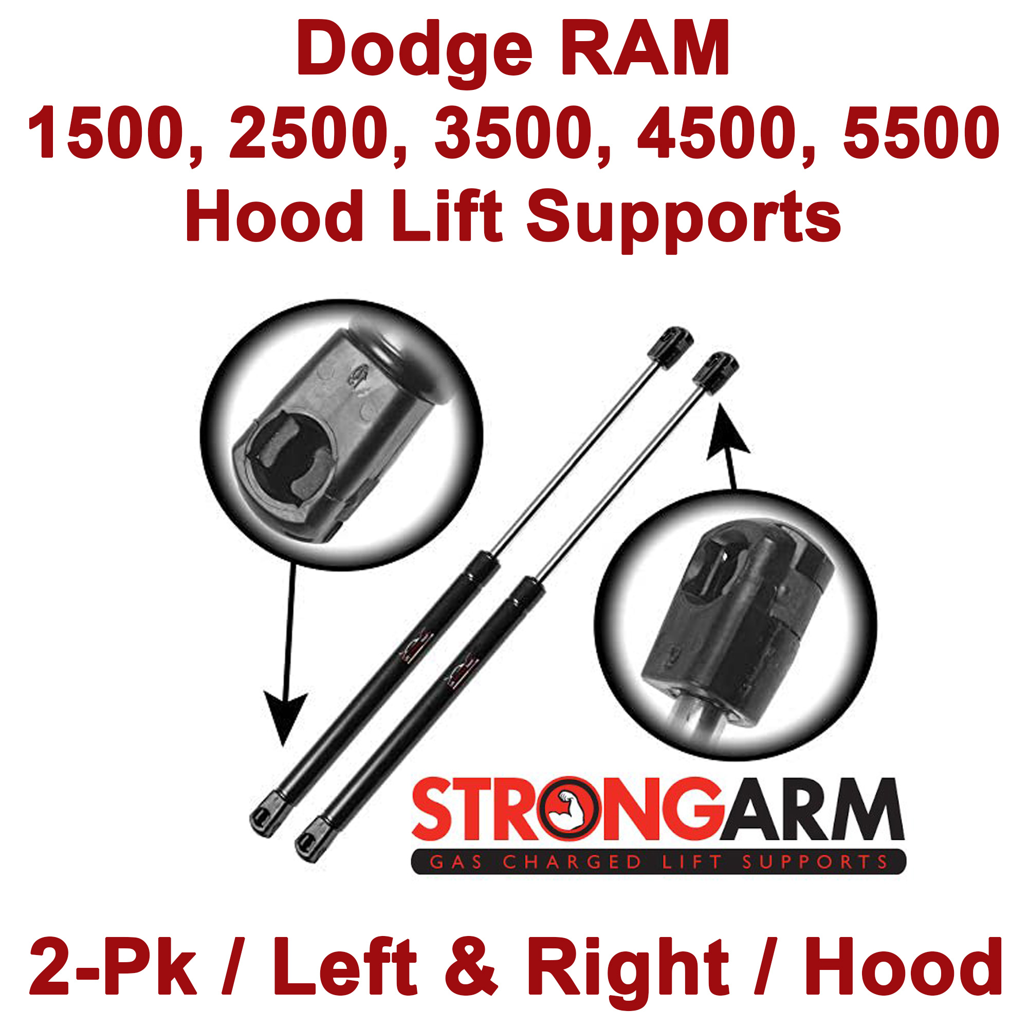 StrongArm 4073 Fits Thunderbird 2002 To 2005 Rear Trunk Lift Supports Qty 2
