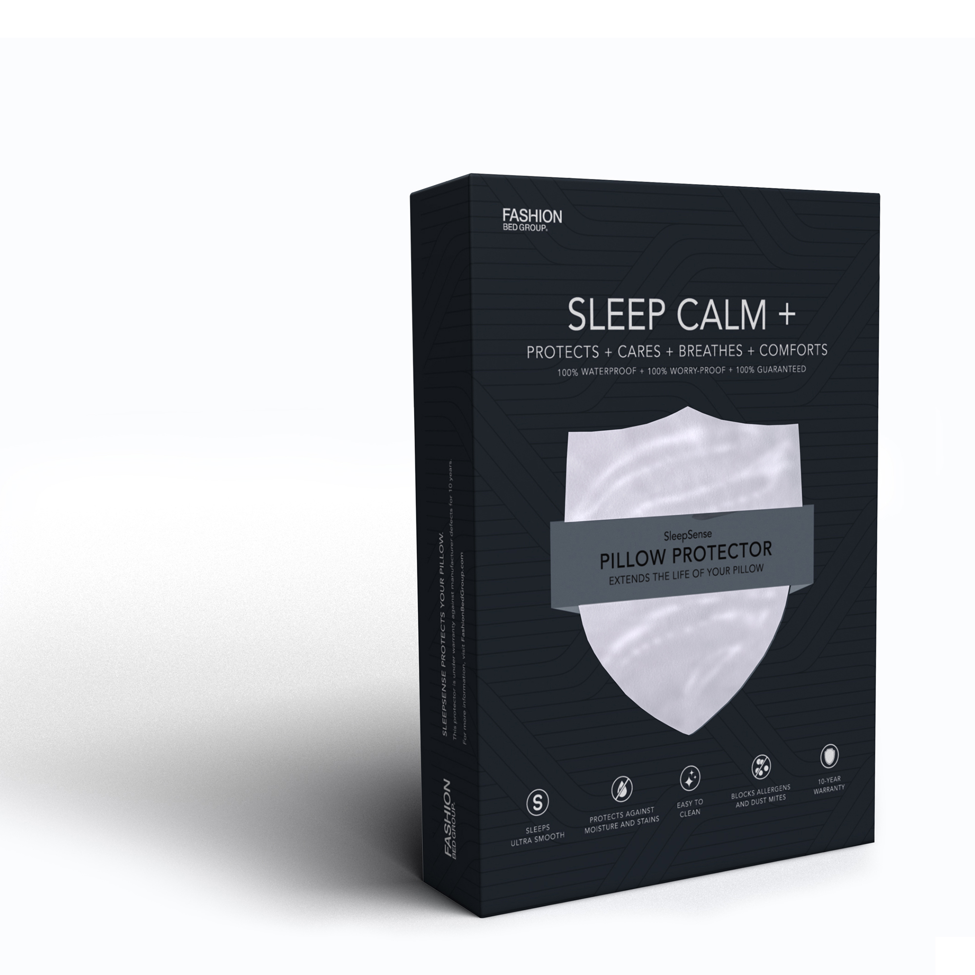 Sleep Calm + Ultra-Premium Pillow Protector with Moisture and Bacteria Resistant Crypton... by Fashion Bed Group