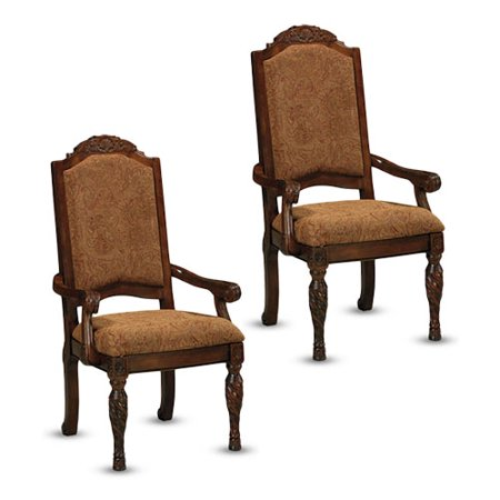 North Shore Dark Brown Dining UPH Arm Chair D553-02A - Set Of 2 Signature Design by Ashley