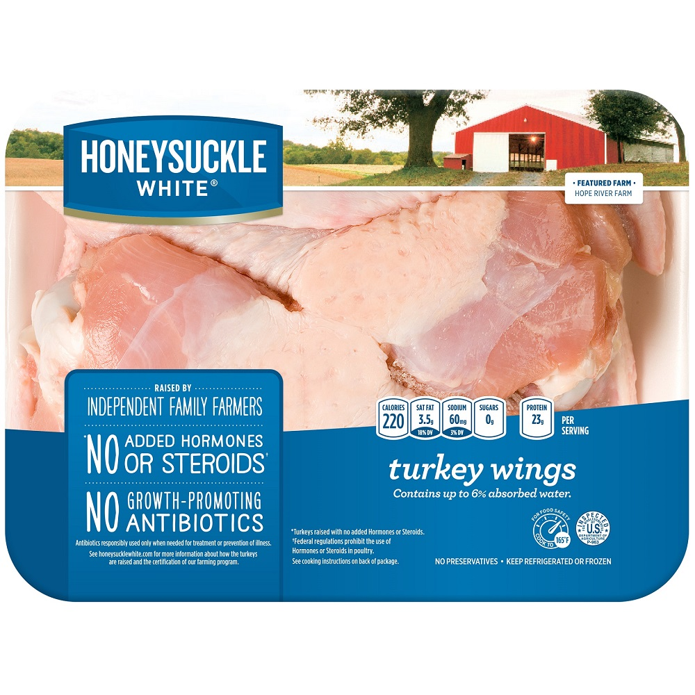 Honeysuckle White All Natural Turkey Wings, 3-4 lbs