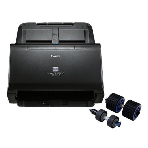 Canon imageFORMULA DR-C240 w/ Scanner Roller Exchange Kit Sheetfed Scanner