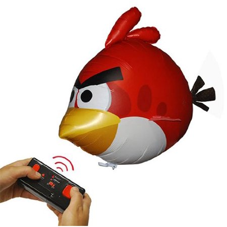 Angry Birds Air Swimmers Turbo - Flying Remote Control RC Balloon Toy - RED