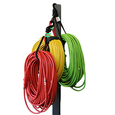 Bungee Cord Garage Organizer Storage Tool. Stocking Stuffers Christmas Holiday Gift Ideas For Men. Sports Equipment, Bike, Hoses, Cords Easy Hook and Hang In Shop, Basement, Closet. No Rack or Shelves - image 1 of 1