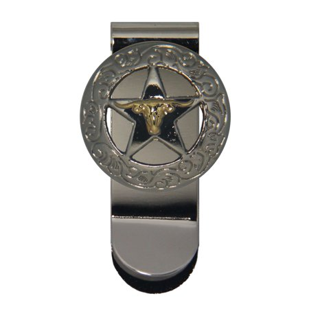 Longhorn and Star Money Clip