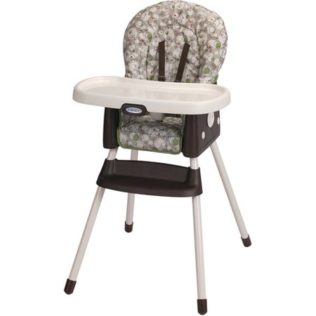 Graco SimpleSwitch 2-in-1 Convertible High Chair, Zuba Acorn Back High Chair