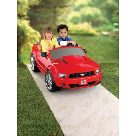 Power Wheels Red Ford Mustang 12-Volt Battery-Powered Ride-On
