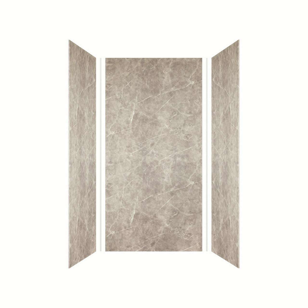 Transolid EWK363672-42 Expressions 36-in x 36-in x 72-in 3-Panel Shower Wall Kit, Dover Stone