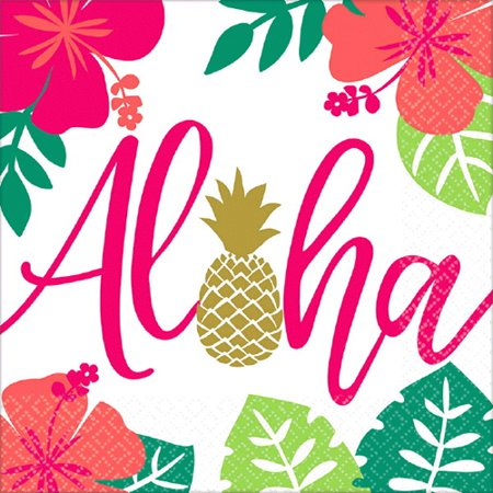 Hawaiian Luau 'Aloha' Lunch Napkins (16ct)](Aloha Party Supplies)