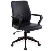 Leick Faux Leather Office Chair in Black