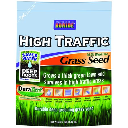 60281 High Traffic Grass Seed, 3-PoundImproved drought and heat resistance with water saver varieties By