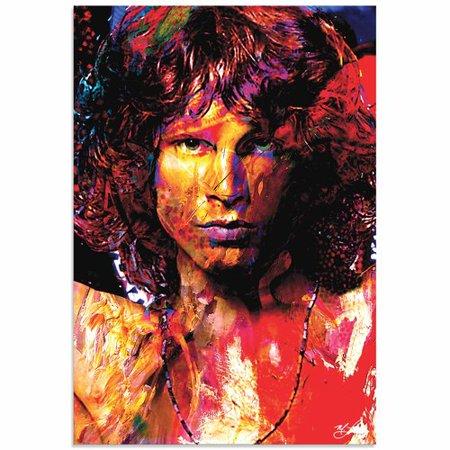 Metal Art Studio Jim Morrison Window Of My Soul By Mark Lewis Painting Print