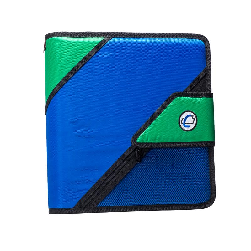 Case it 2 inch open tab binder with pockets and tab file, blue