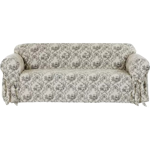 Classic Slipcovers Toile Print Box Cushion Sofa Slipcover