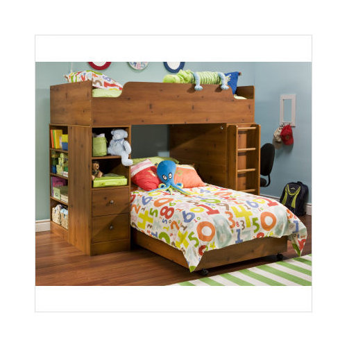 Bundle 32 South Shore Logik Loft Bunk Bed In Sunny Pine 3