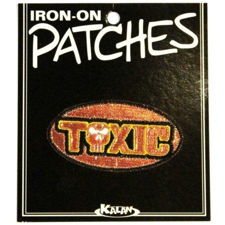 Evil Sidekick Names (Toxic Name Tag Badge Patch Metallic Skull Evil Bad Embroidered Iron On)
