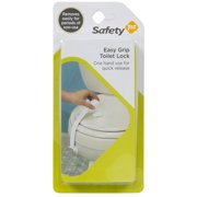 Safety 1st Easy Grip Removable Adhesive Toilet Lock, White