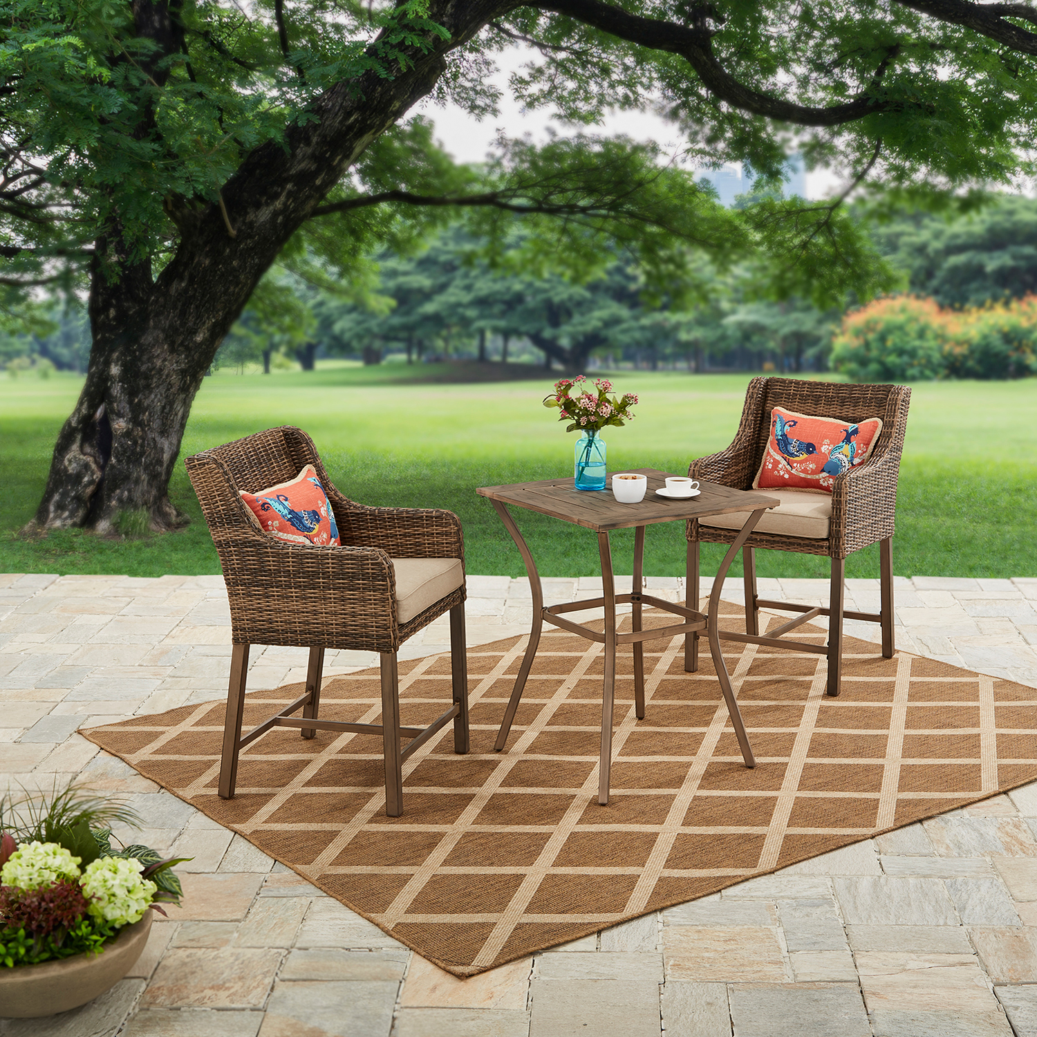 Better Homes and Gardens Hawthorne Park 3-Piece High Outdoor Bistro Set