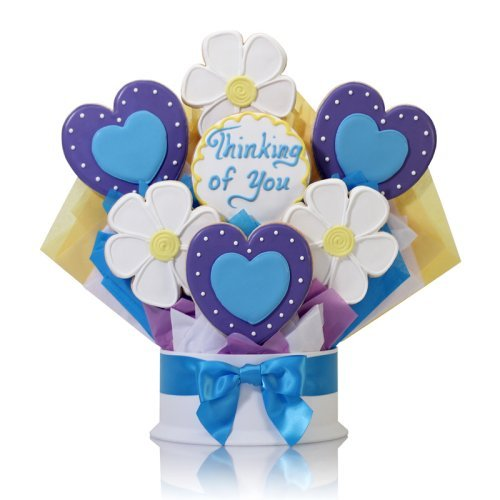 Corso's Cookies Hearts and Flowers Cookie Bouquet