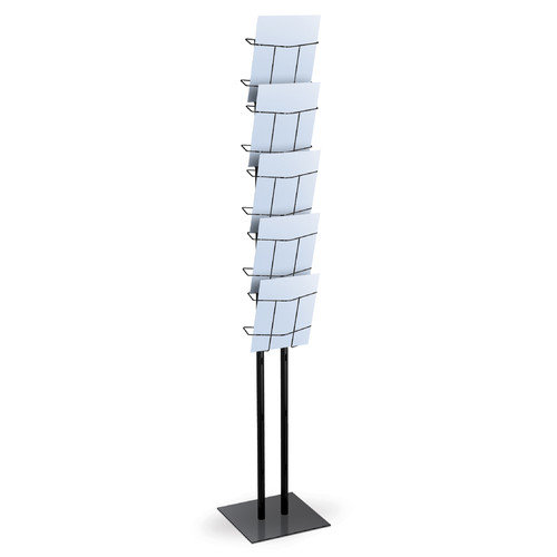 Testrite Visual Products LR1 Literature Stands Literature Stand And Bag- Black