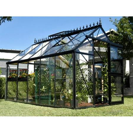 Greenhouse Glass Panels (Janssens Junior Victorian 7.75 x 12.5-Foot Greenhouse )
