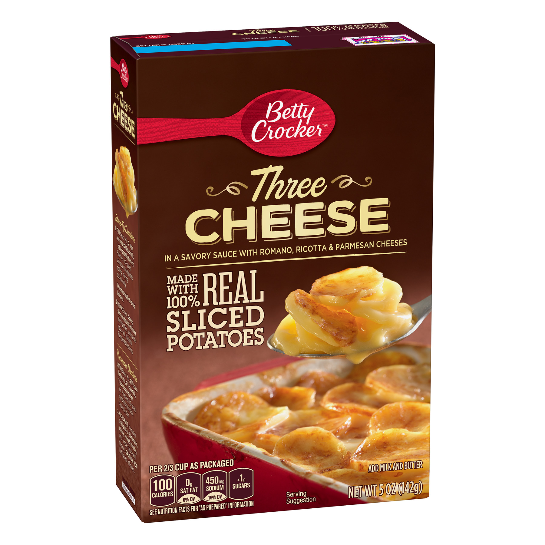 Betty Crocker Three Cheese Potatoes, 5 oz Box