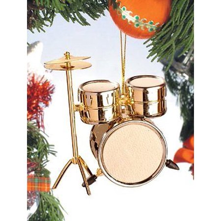 Realistic Gold Drum Set Christmas Ornament - 3