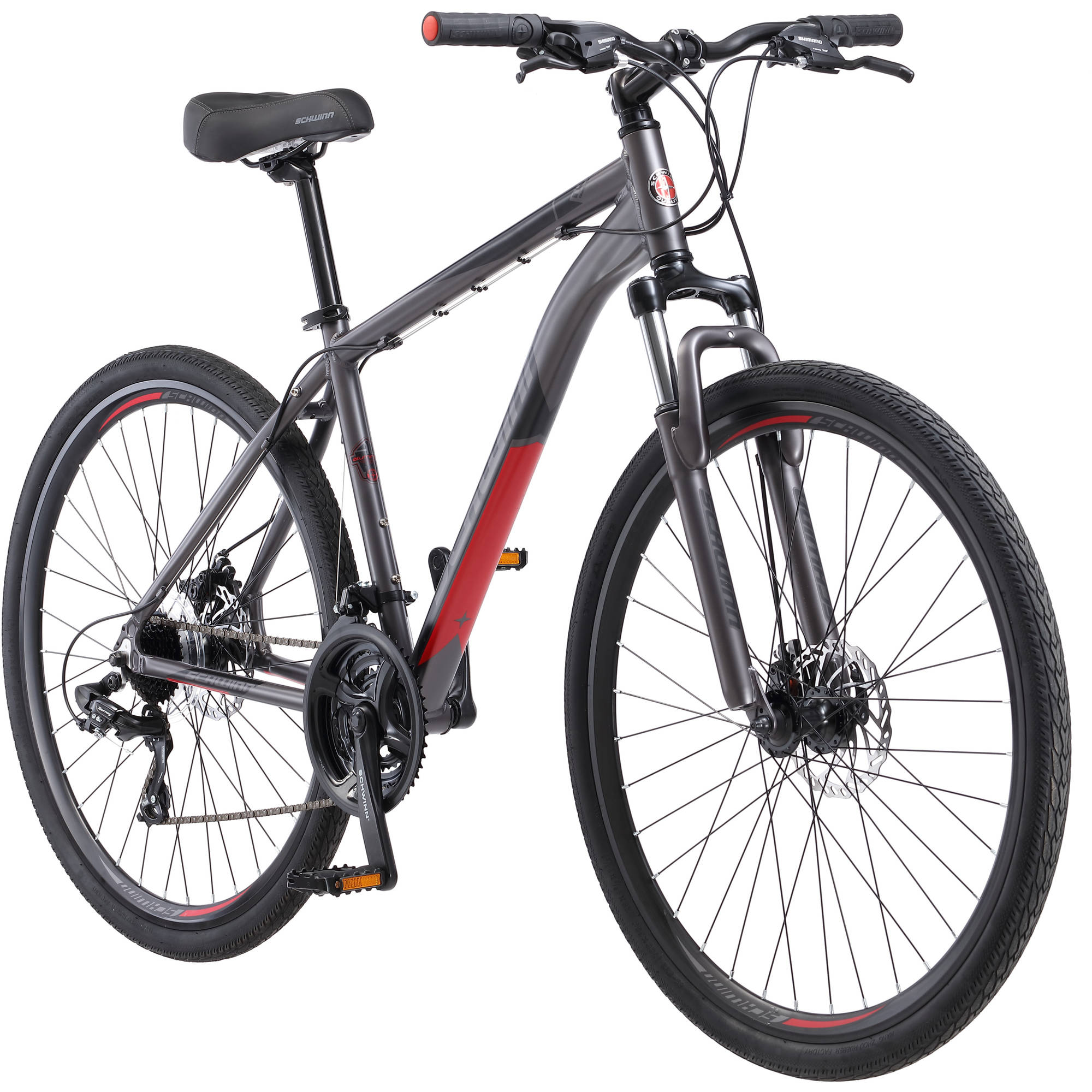 700C Schwinn DSB Men's Hybrid Bike, Matte Gray