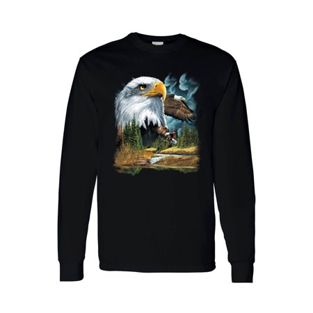 Unisex Long Sleeve Shirt Bald Eagle American Pride