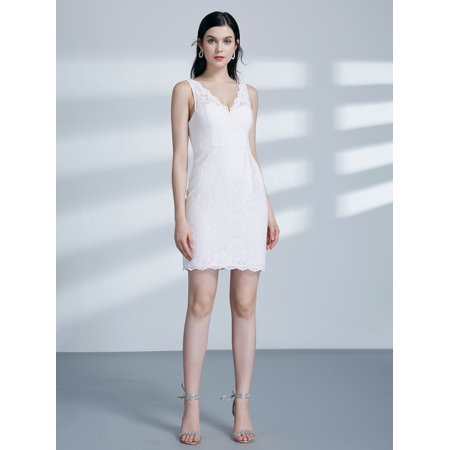 7c8743f0095b Ever-Pretty - Ever-Pretty Womens Mini Skinny V-Neck Sleeveless Lace  Clubwear Evening Cocktail Party Formal Dresses for Women 03003 US 8 -  Walmart.com