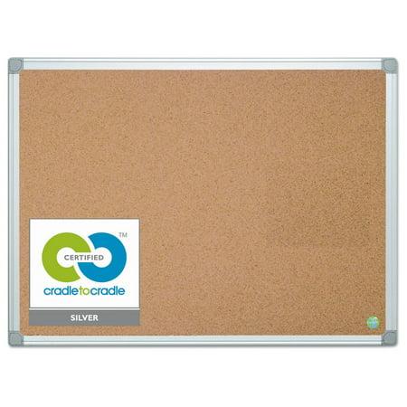 Earth Cork Board 36 X 48 Aluminum Frame Walmartcom